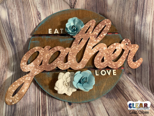 Gather Wood Pallet Sign