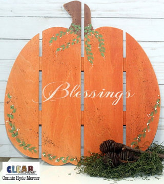 Blessings Pumpkin Pallet Shape