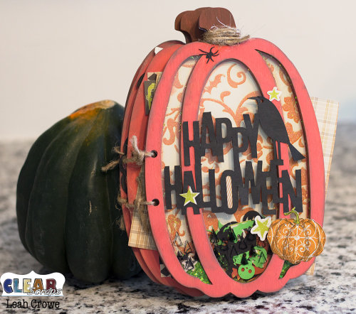 Happy Halloween Pumpkin Wood Accordion Shaker Album