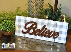 Believe Buffalo Plaid DIY Pallet