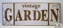 Vintage Garden Wood Pallet Sign