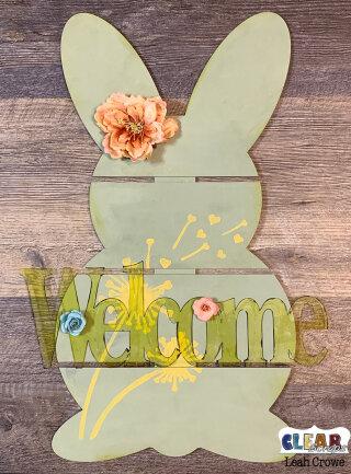 Bunny Welcome DIY Pallet
