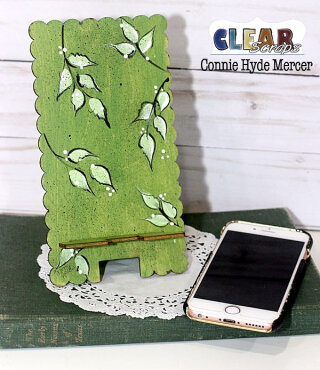 Scallop Wood Phone Stand