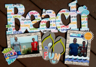 Beach Wood XL Word Frame