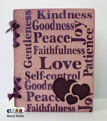 Wood Hearts Scripture Journal