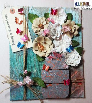 Mixed Media Floral Canvas