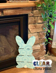 Hippity Hoppity Stenciled DIY Bunny Pallet