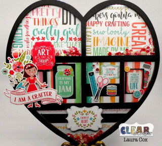 Crafty Girl Heart Printer Tray Frame