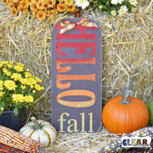 Glittery Hello Fall Sign