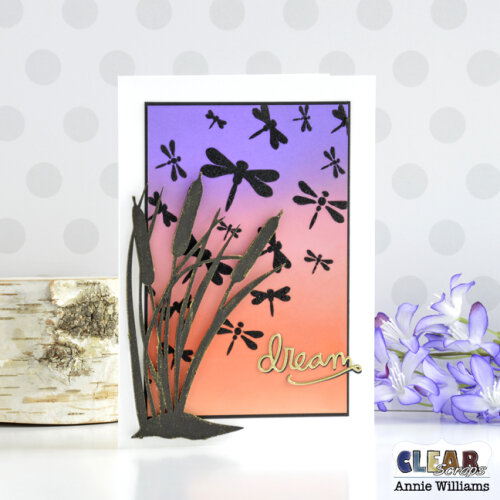 Cattails at Sunset Card