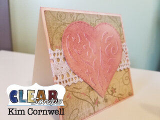 Notecards with Heart Cluster Stencil