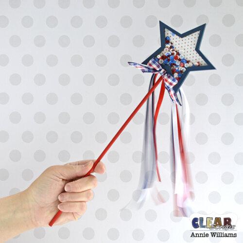 Patriotic Shaker Wand