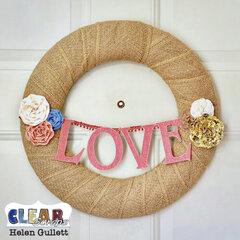 DIY Love Chipboard Wreath