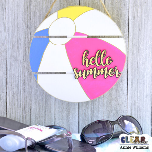Hello Summer Beach Ball Sign