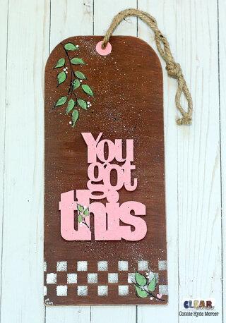 You Got This Jumbo Wood Tag