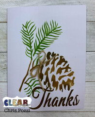 Pine Cone Thank You Card