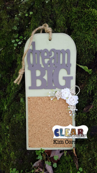 Dream Big Tag Cork Board