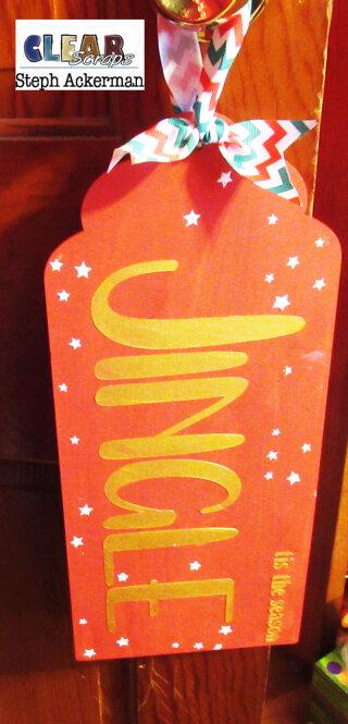 Jingle Jumbo Wood Tag