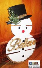 Glitter Snowman Pallet