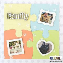 Cat Family Puzzle Decor