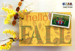 Fall Blank Wood Card