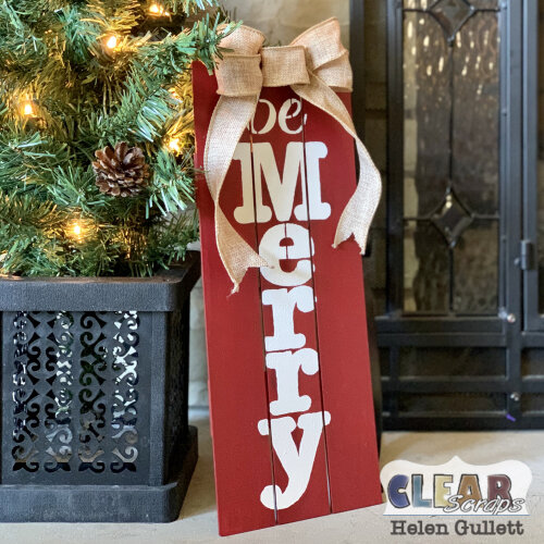 Be Merry Farmhouse Pallet Sign