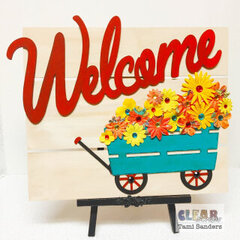 Welcome Wagon Wood Pallet