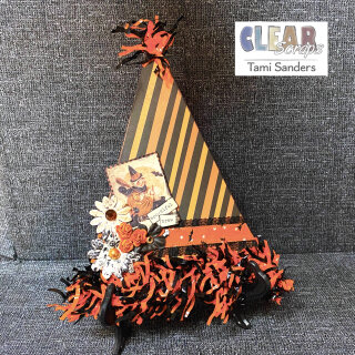 Chipboard Banner Witches Hat