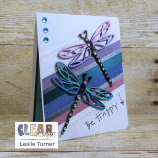 Birthday Card with Removable Dragonfly Magnets