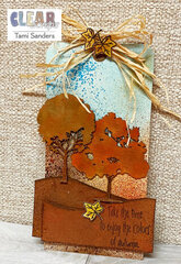 Fall Tag with Chipboard Oak Trees