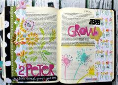 Stenciled Bible Journaling