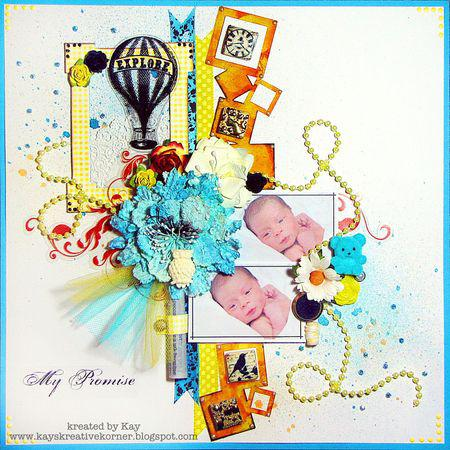 Clear Scraps Acrylic Borders Layout by Kay