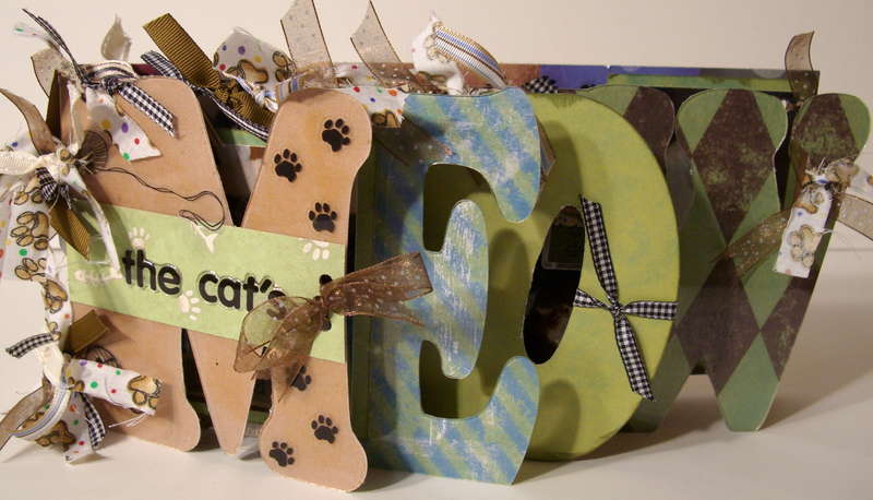"""Meow Acrylic Word Book """"My Cats"""" by Julie H."""