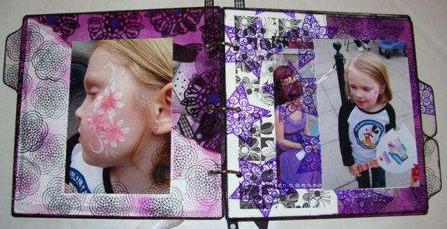 Burst of Flavor!  8x8 Clear Scraps Acrylic Album & Staz on Inks