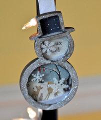 Snowman Shaker Ornament