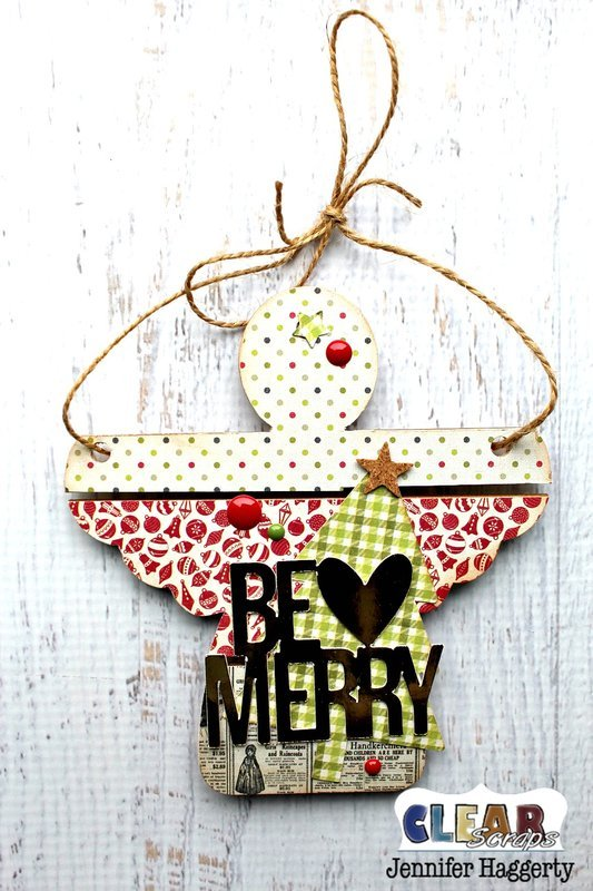Be Merry Angel Mini Wood Pallet Shape