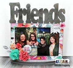 Friends Desktop Wood Frame