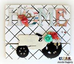 Large Chipboard Embellishments Home Decor