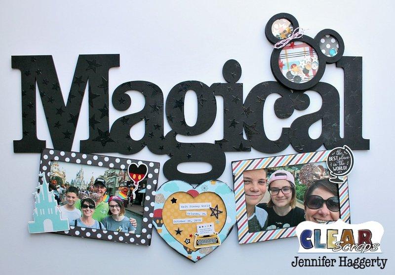 Magical Wood XL Word Frame