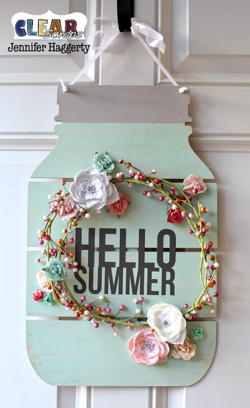 Hello Summer Mason Jar DIY Pallet