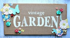Vintage Garden Burlap Canvas