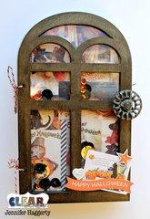 Happy Halloween Windows Wood Accordion Shaker Album