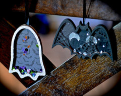 Bat, Ghost Shaker Ornaments