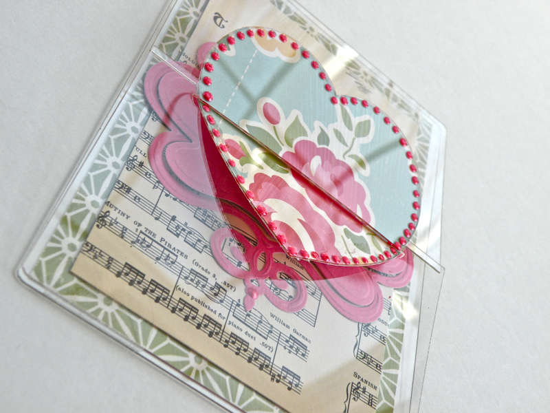Clear Scraps Send It Clear Heart Card