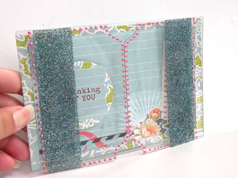 Send It Clear Acrylic Card by Pinky Hobbs
