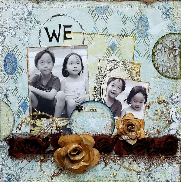 Clear Scraps Acrylic Layout