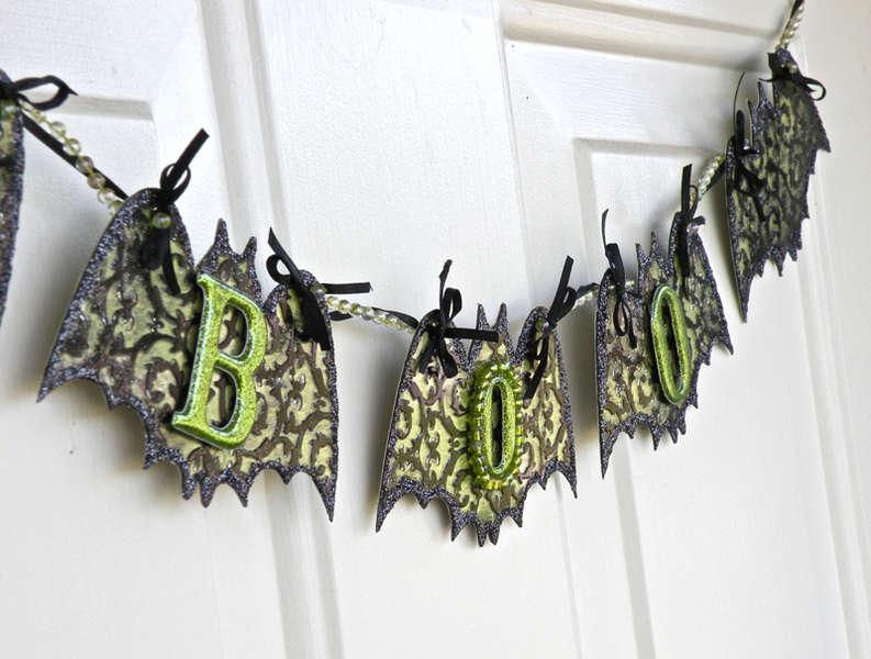 Clear Scraps Bat Banner *BOO*