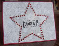 Clear Scraps Acrylic Star Card ~ By Cathy S DT Member