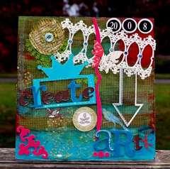 Create Art by clear scraps DT Elisa