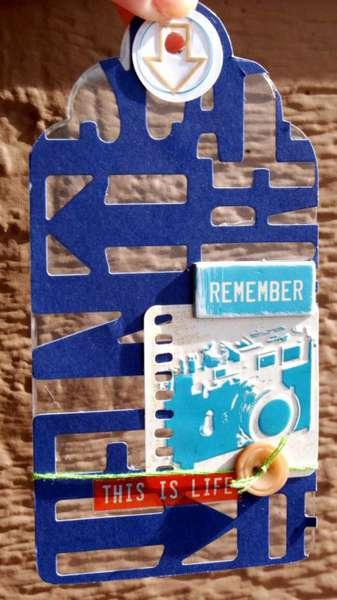 Clear Scraps Acrylic Tag